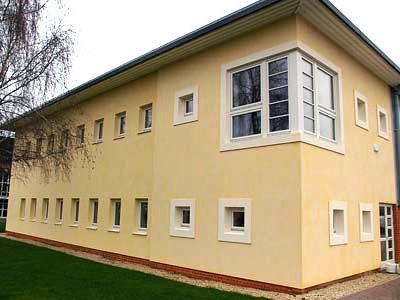 Rénovation de façade et locaux réalisés par projection de béton de chanvre